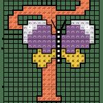alfabeto borboletas T