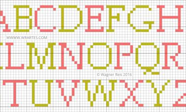 alfabeto maiusculo simples pequeno facil ponto cruz bebe