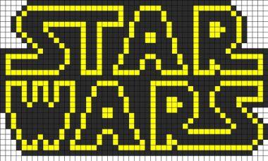 star wars Logo ponto cruz 1