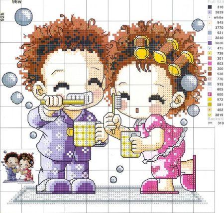 Namorados Apaixonados Casal Soda motivo Escovando os Dentes 1