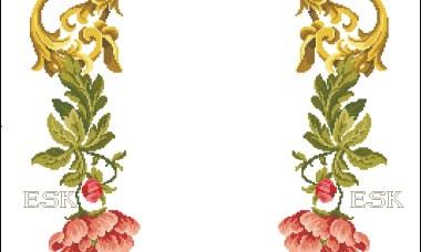 Caminho de mesa Arco de Flores Vermelhas