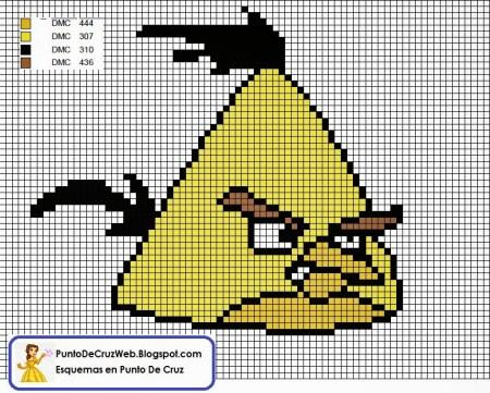 Angry Birds Passaro Amarelo 02 em ponto cruz