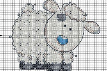 colecao de ovelha em ponto cruz 08