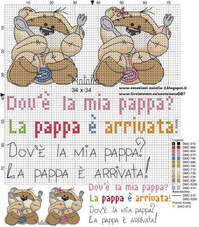Urso Ursinho Fuzzy Moon BordadoPontoCruz 11
