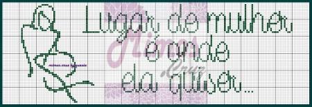 Frases Dia da Mulher BordadoPontoCruz com 02