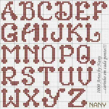 Alfabeto Infantil Arredondado BordadoPontoCruz 01