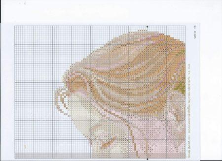 Quadro Mãe segurando Bebê Delicado BordadoPontoCruz 02