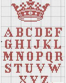 Monograma Alfabeto Pequenos BordadoPontoCruz 05