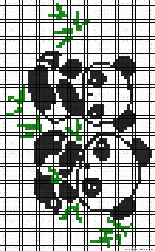 Urso Ursinho Panda BordadoPontoCruz 019