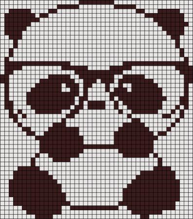 Urso Ursinho Panda BordadoPontoCruz 041