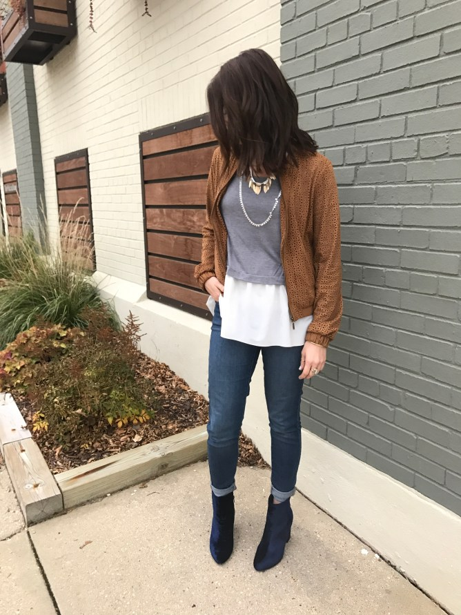 velvet bootie outfit