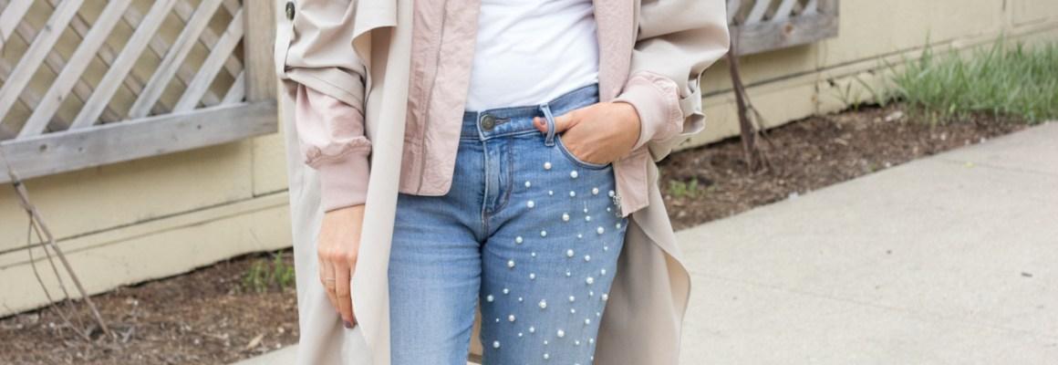DIY-Denim with Pearl Embellishment