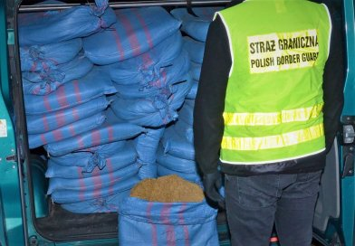 Polish Border Guard officers from Lubaczów seized over half a ton of illegal tobacco