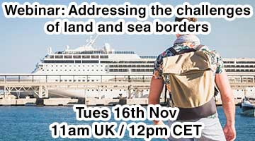 Next Webinar Announced – Addressing the challenges of land and sea borders