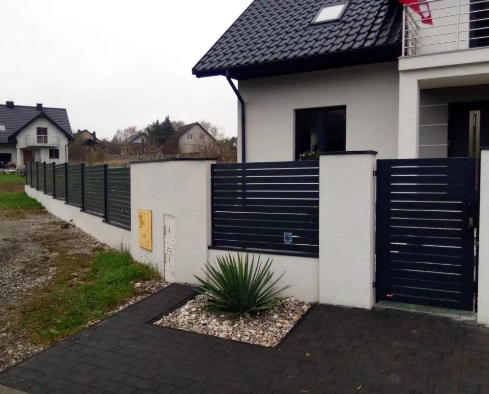 Ogrodzenie palisadowe KONSPORT P82 BORDER automat FACC tynk elewacyjny ogrodzenia typy (3)