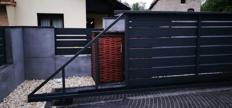 ogrodzenie murowane ogrodzenia border ogrodzenia aluminiowe alugate beton architektoniczny rfid videodomofon 3