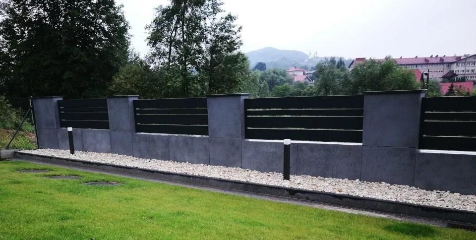 ogrodzenie murowane ogrodzenia border ogrodzenia aluminiowe alugate beton architektoniczny rfid videodomofon 7