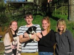 Sasha with Katy and family