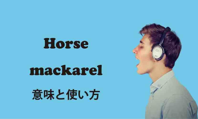 Horse mackarel ブログ 表紙