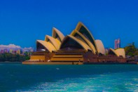 Testing out some heavy photo editing on the Sydney Opera house. I thought I looked like a painting by the time I finished.