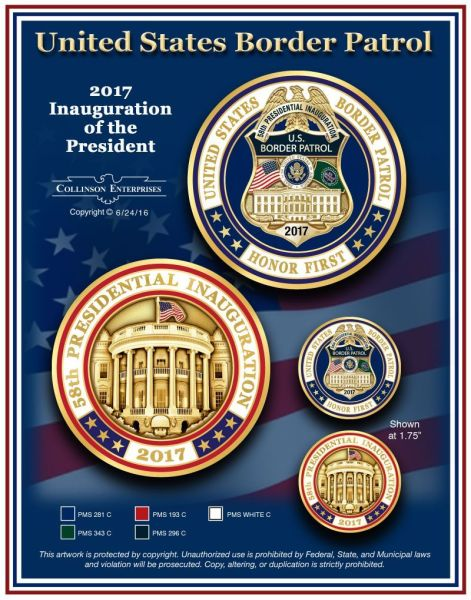 Presidential Inauguration Badge & Coin Set