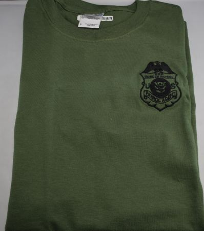 Raid T - CBP Badge Military Gre - Adult Clothing