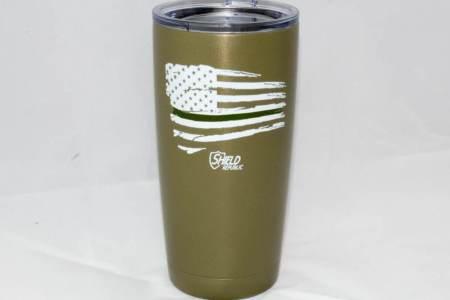 GREEN LINE FLAG TUMBLER-OD - Glassware