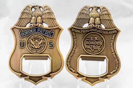 USBP BADGE BOTTLE OPENER-SEAL - Coins