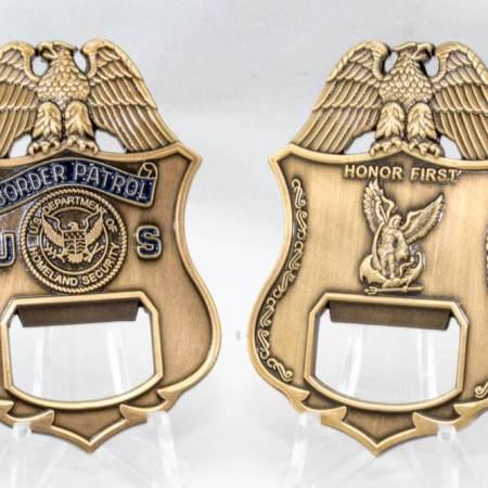 USBP BADGE BOTTLE OPENER-HF - Coins