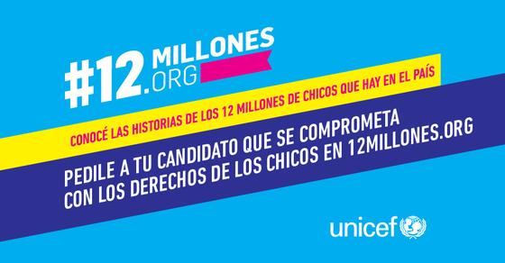 #12millones: campaña por los niños y adolescentes