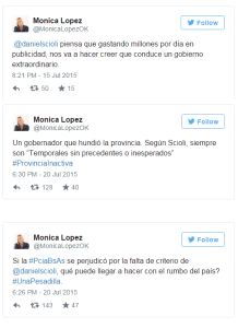 Mónica López tuits