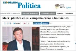 El embajador Basteiro instaló el miedo xenófobo.
