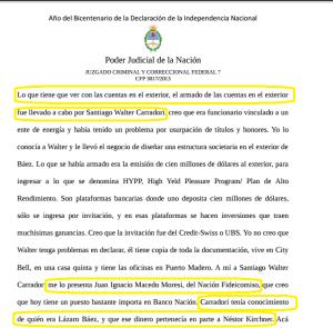 Fariña cuenta cómo conoció a Carradori.