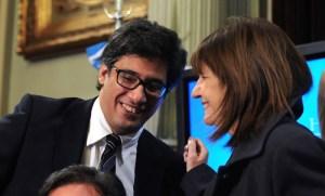 Ministros Garavano y Bullrich.