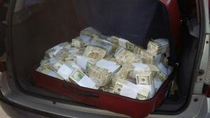 El dinero secuestrado a Lopez