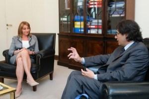 Gils Carbó, reunida a principios de año con el ministro Garavano.