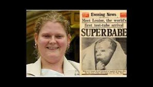 La primer persona nacida por una técnica de reproducción asistida en 1978, en Inglaterra.
