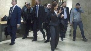 Cristina en Tribunalds, en abril, cuando fue citada por Bonadio.