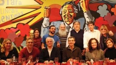 Florencio Randazzo en una cena con dirigentes del Movimiento Evita en julio.