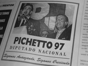 En el 97, en campaña apoyado por Menem.