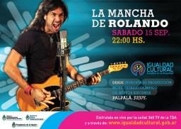 Flyer del show oficial de La Mancha, en Palpalá, Jujuy. Sin datos de contratación.