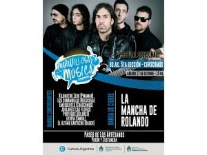 "Otro flyer oficial: ""Maravillosa Música"" de La Mancha en Chascomús."