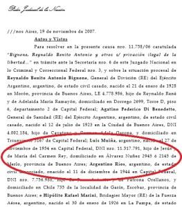 Los datos del represor liberado por el fallo del 2x1 de la Corte.