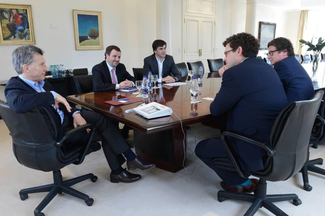 Macri recibió a ejecutivos de Templeton en 2016, cuando el fondo se instaló en Argentina.
