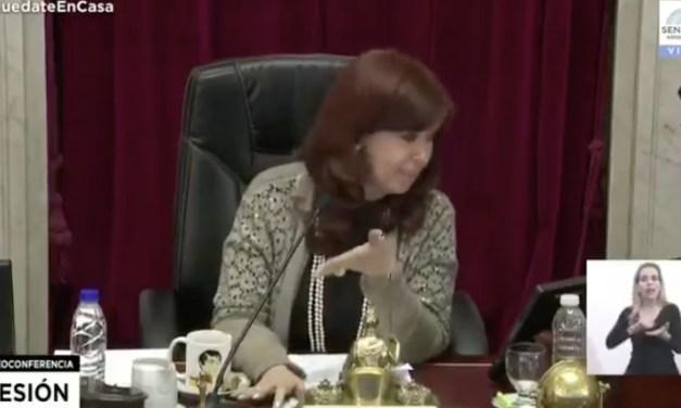 «Lousteau, por favor»: el tenso cruce con Cristina Kirchner en plena sesión