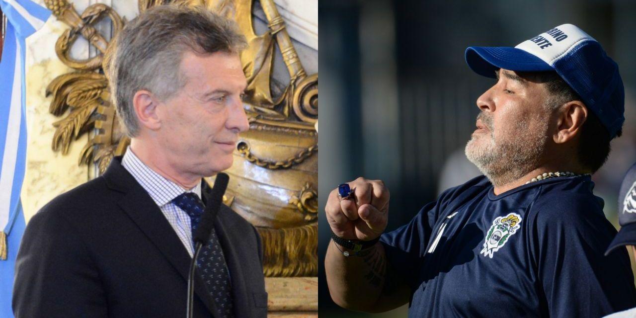 El inesperado cruce entre Diego Maradona y Mauricio Macri