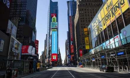 Times Square: por el coronavirus, un año nuevo distinto