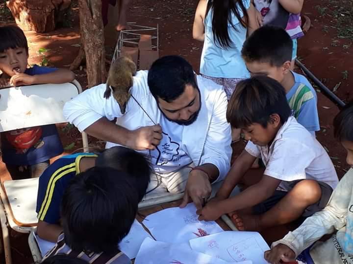 Juan Manuel Pereyra y sus alumnos