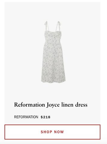El vestido de lino que utilizó Taylor Swift en su primer video de TikTok. Sale 218 dólares y se agotó al instante.