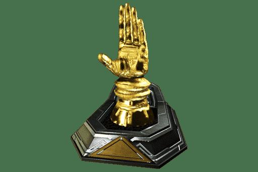 parvos golden hand decoration